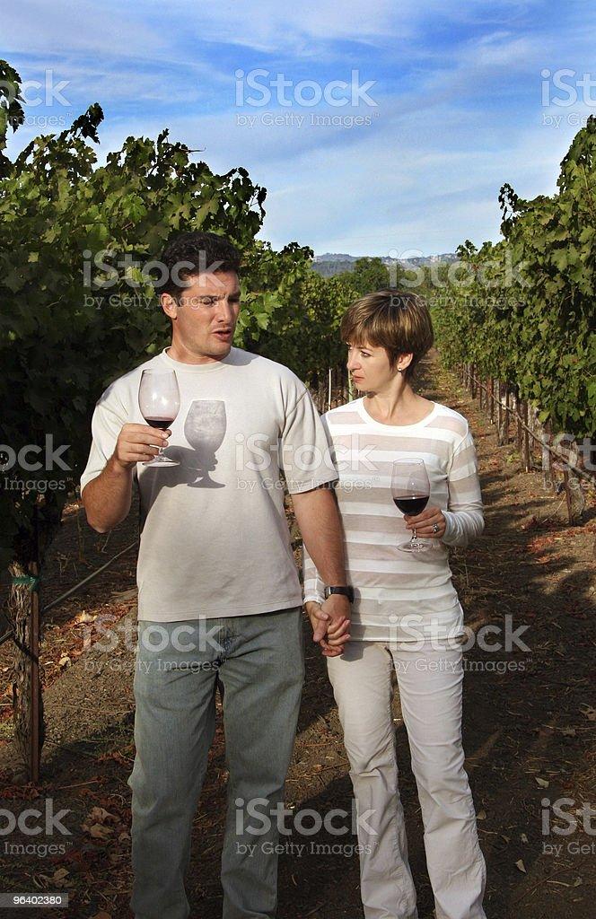 Couple at vineyard royalty-free stock photo
