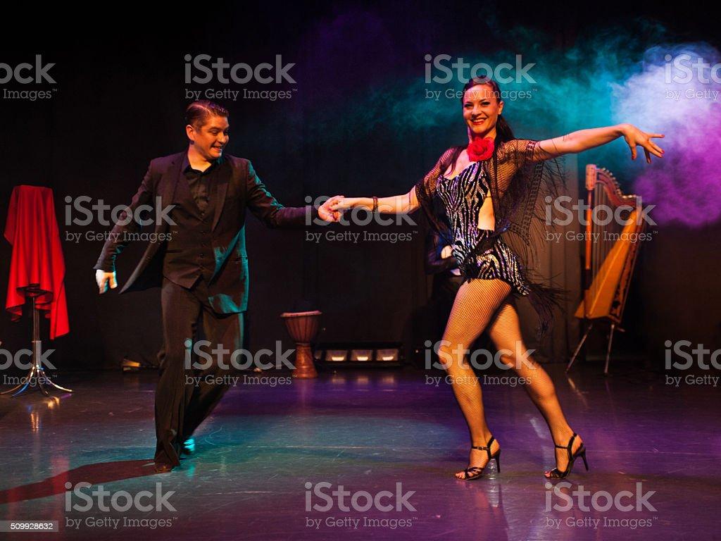 Couple Ballroom Dancing - latino dancers stock photo