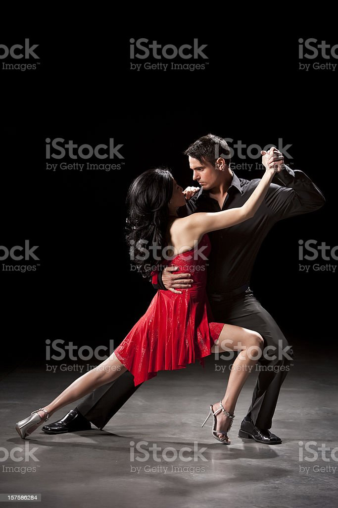 Couple Ballroom Dancing stock photo