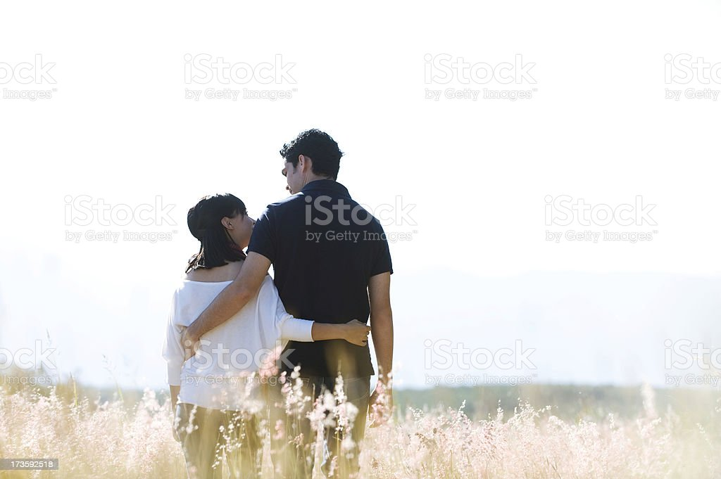Couple bonding royalty-free stock photo