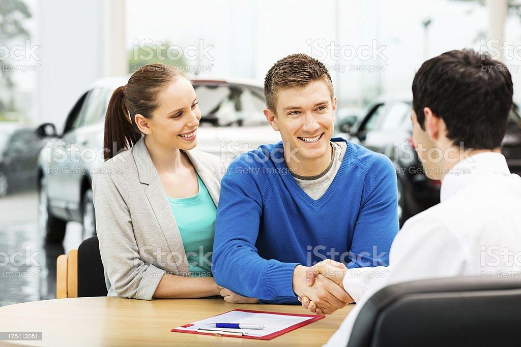 Couple Buying Car stock photo