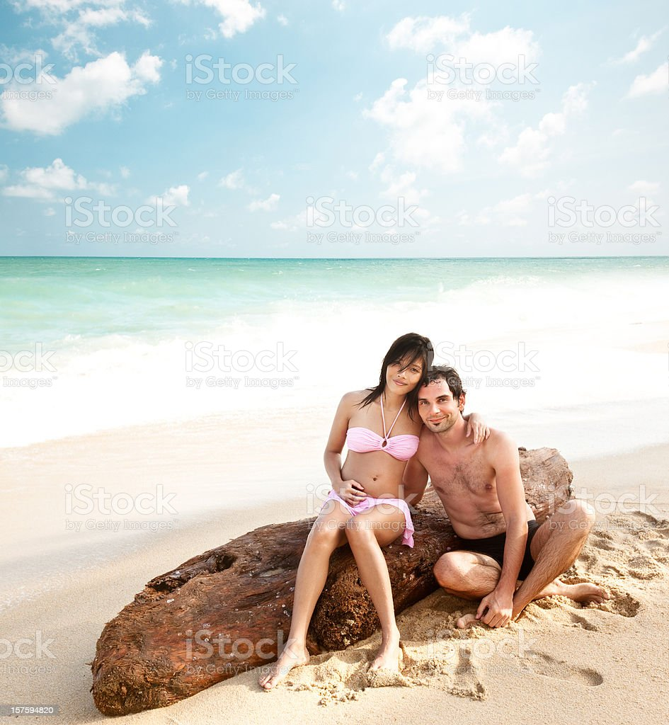 Couple by the Ocean royalty-free stock photo