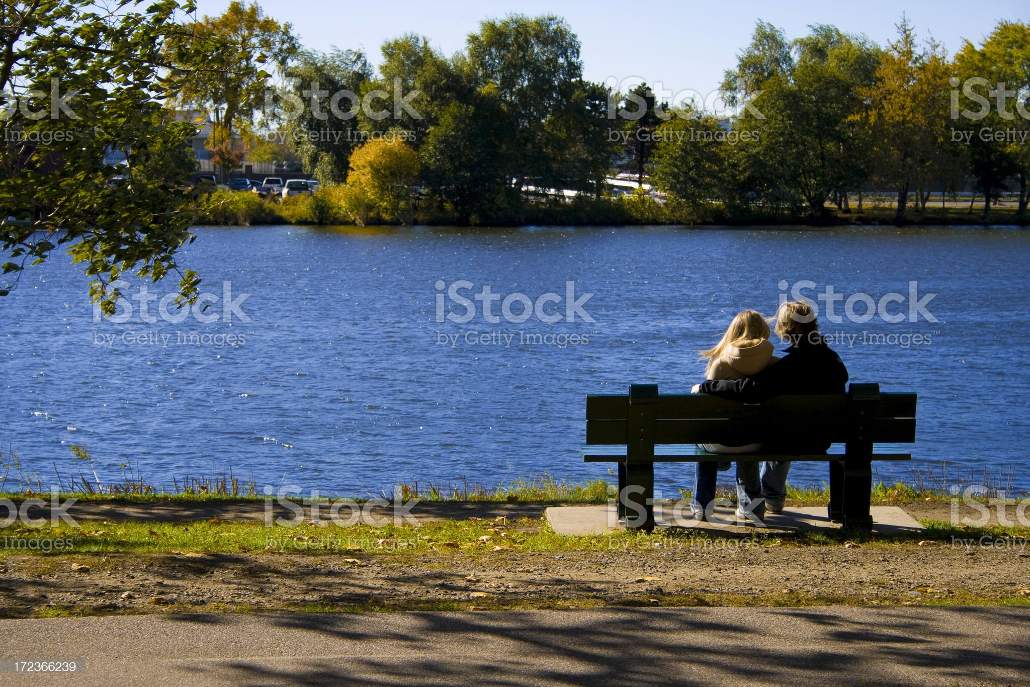 Couple by the River royalty-free stock photo
