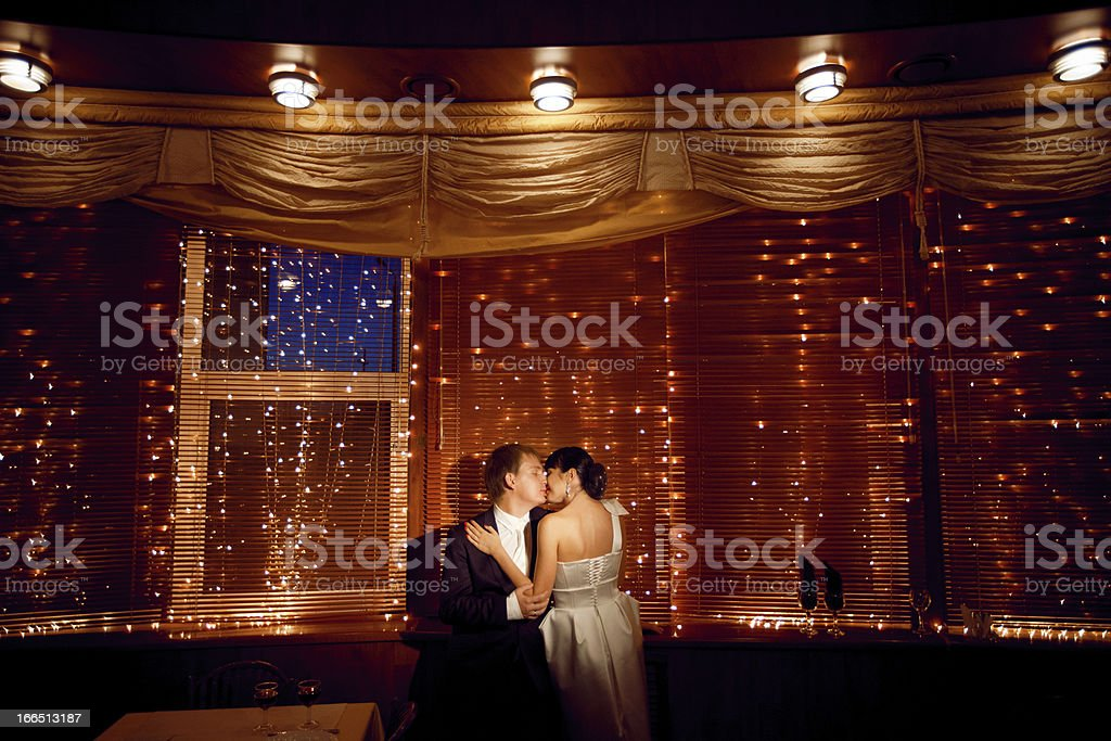 couple by the window royalty-free stock photo
