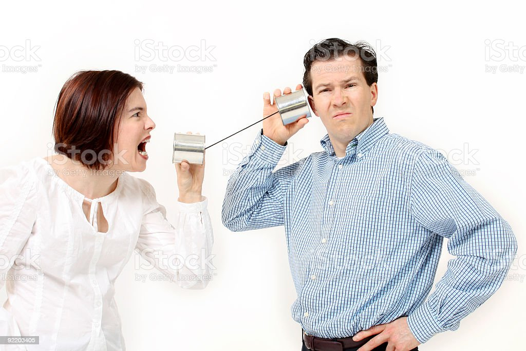 Couple communication problems royalty-free stock photo