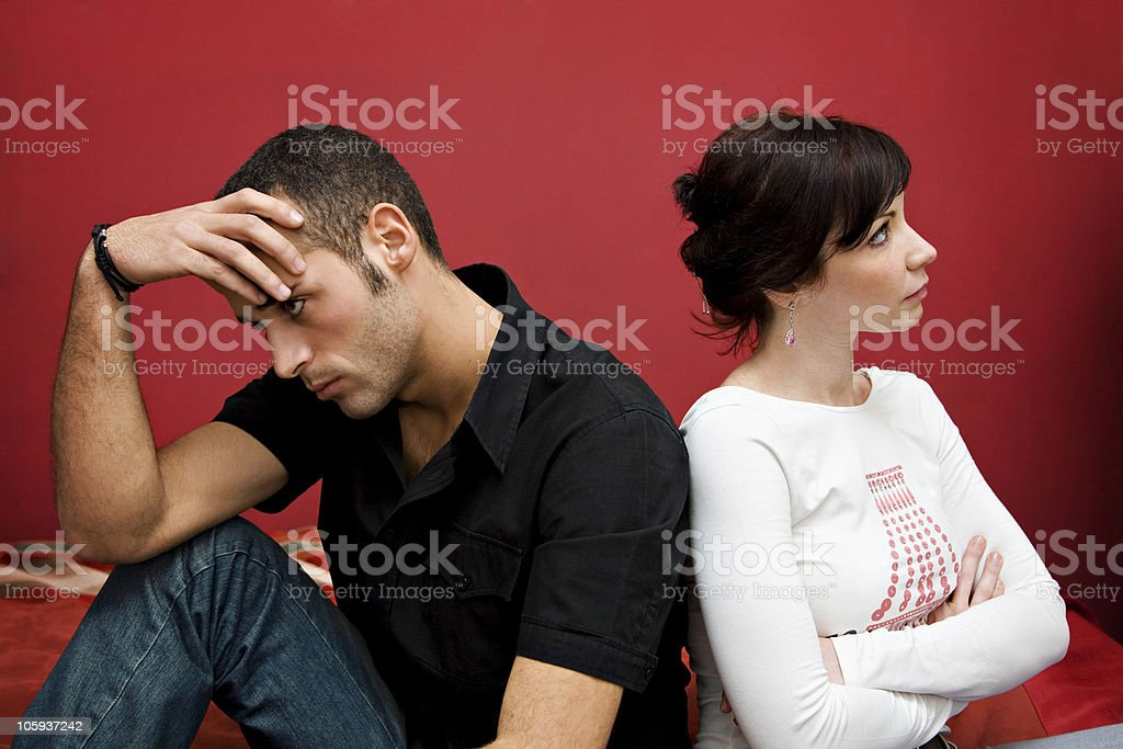 couple crisis stock photo