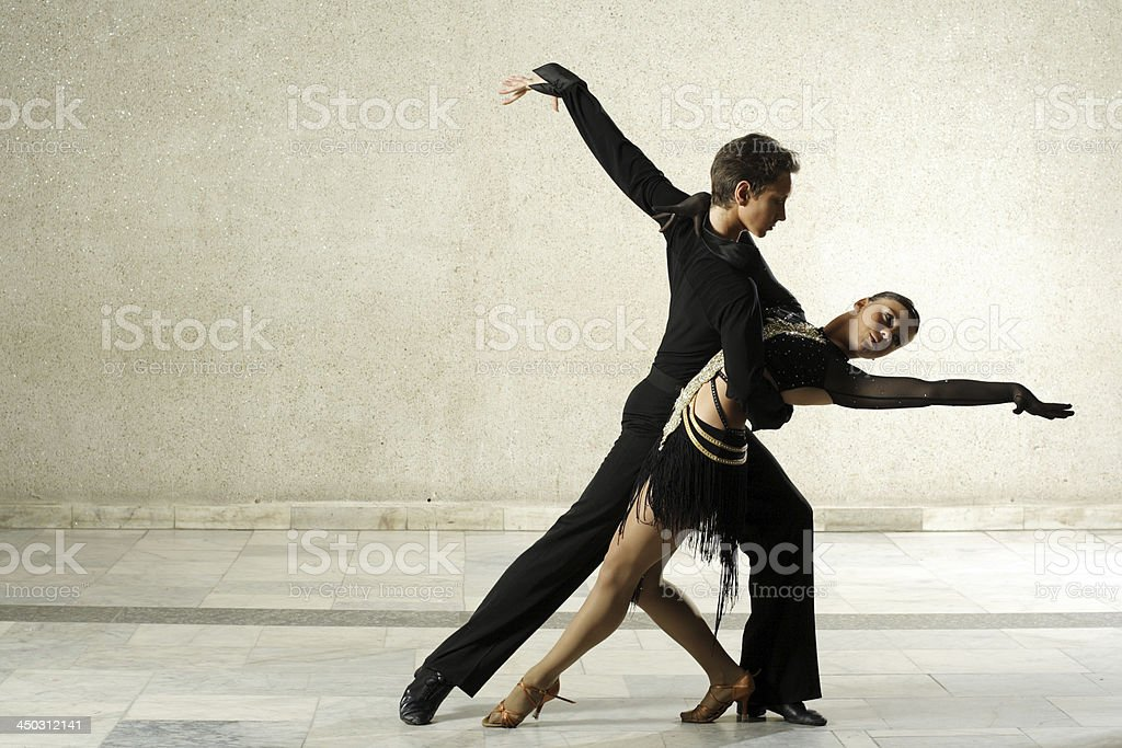 couple dancing Latino-American dance stock photo