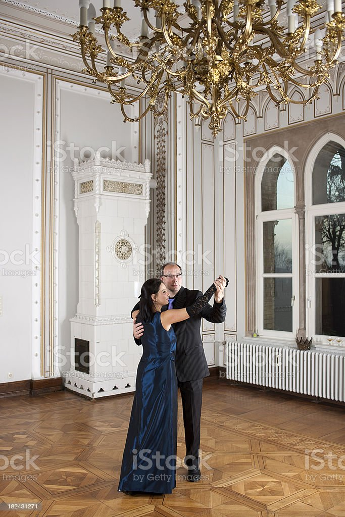 Couple dancing royalty-free stock photo