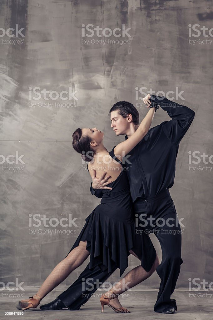 couple dancing tango argentino stock photo