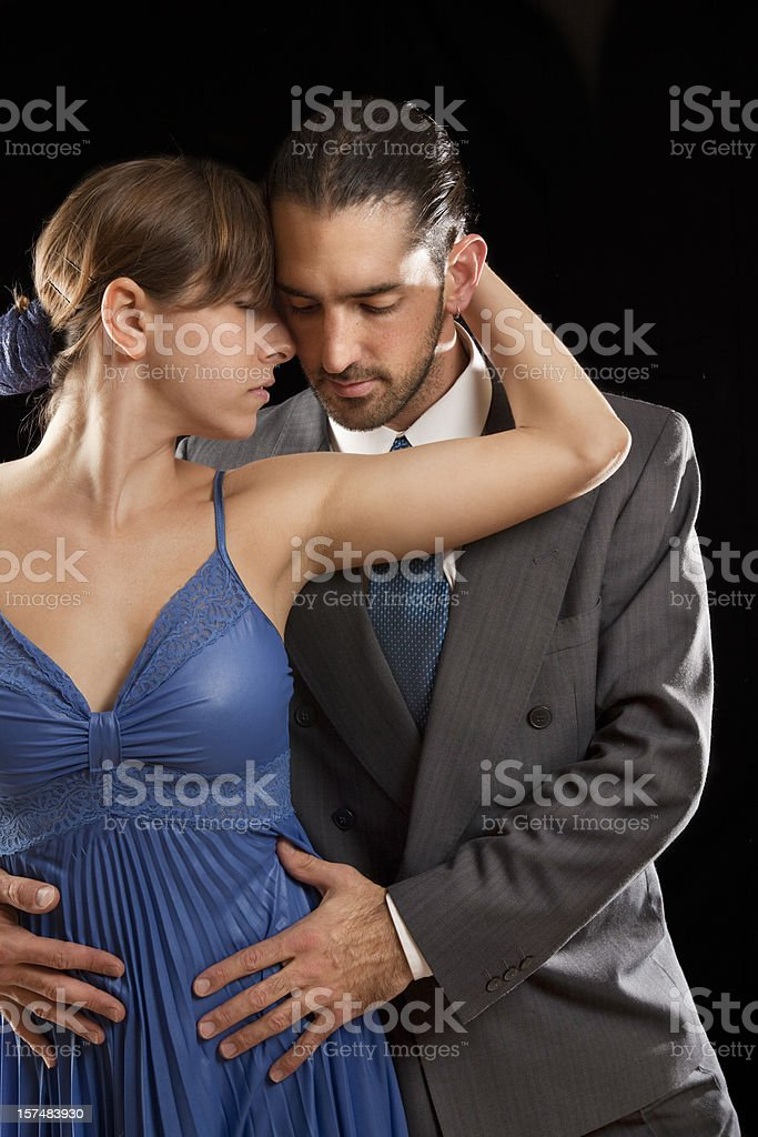 Couple dancing tango in Buenos Aires royalty-free stock photo