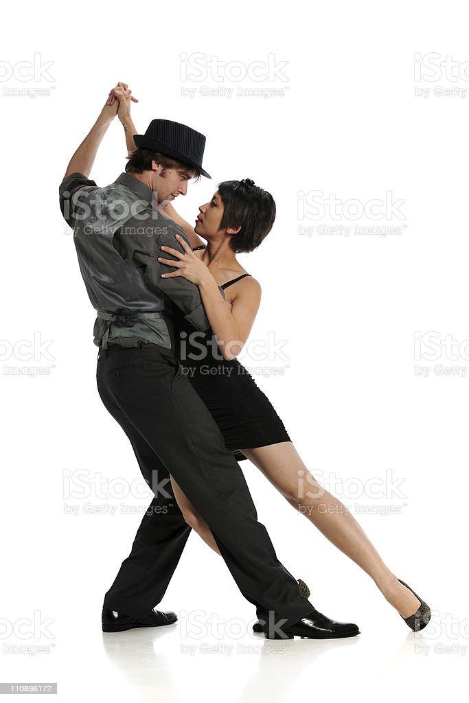 Couple dancing Tango stock photo