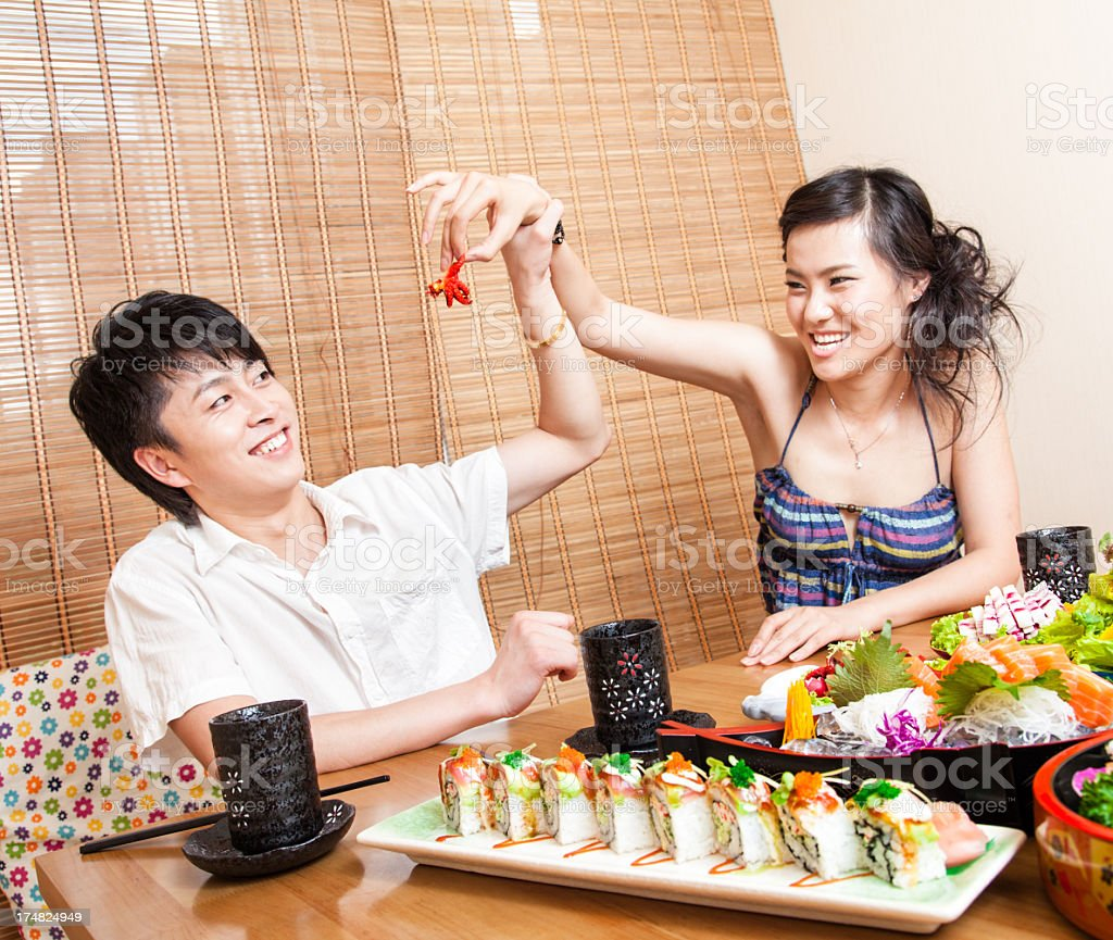 Couple Dining Together royalty-free stock photo