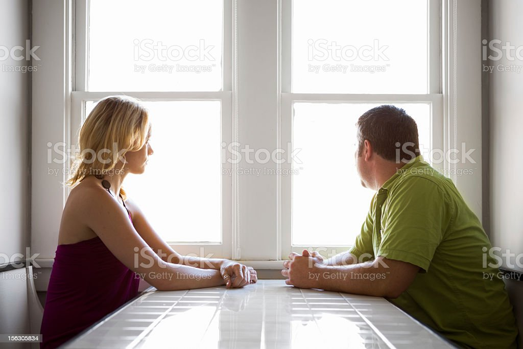 Couple Dispute stock photo
