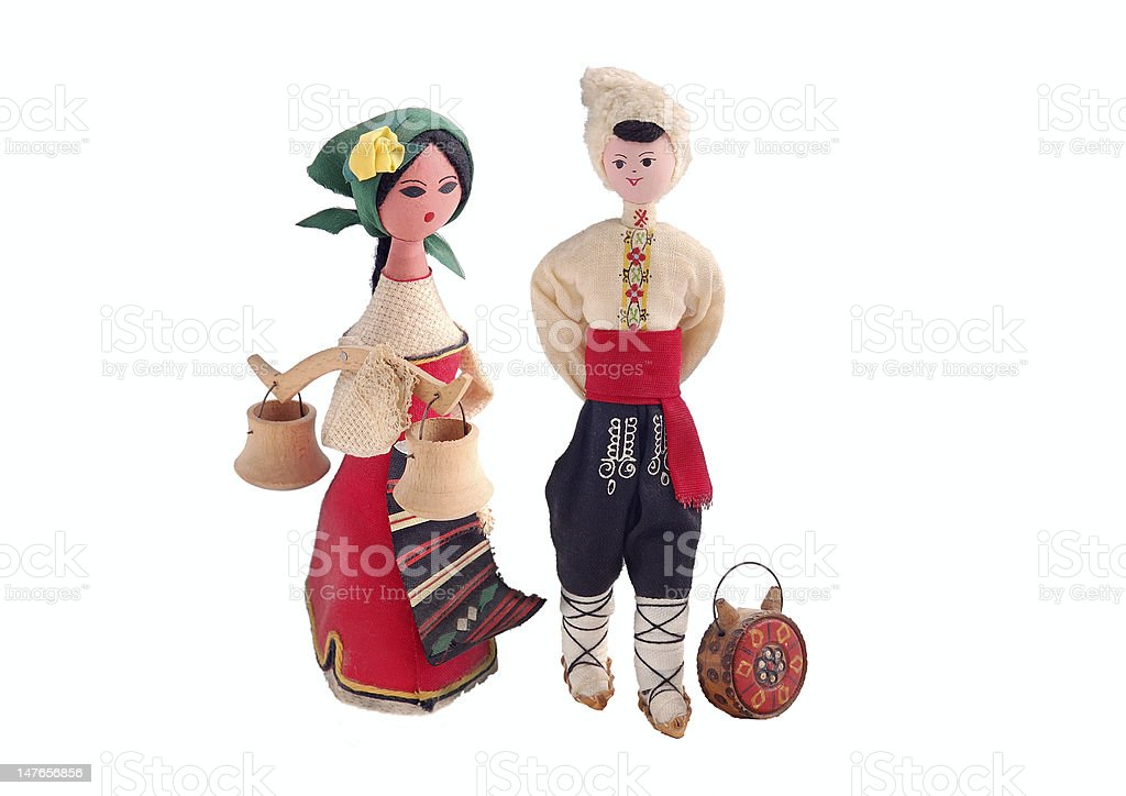 couple dolls royalty-free stock photo