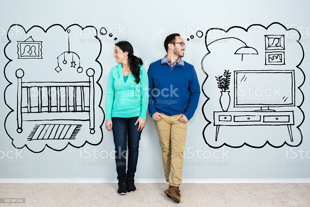 Couple dream about life in their new home stock photo