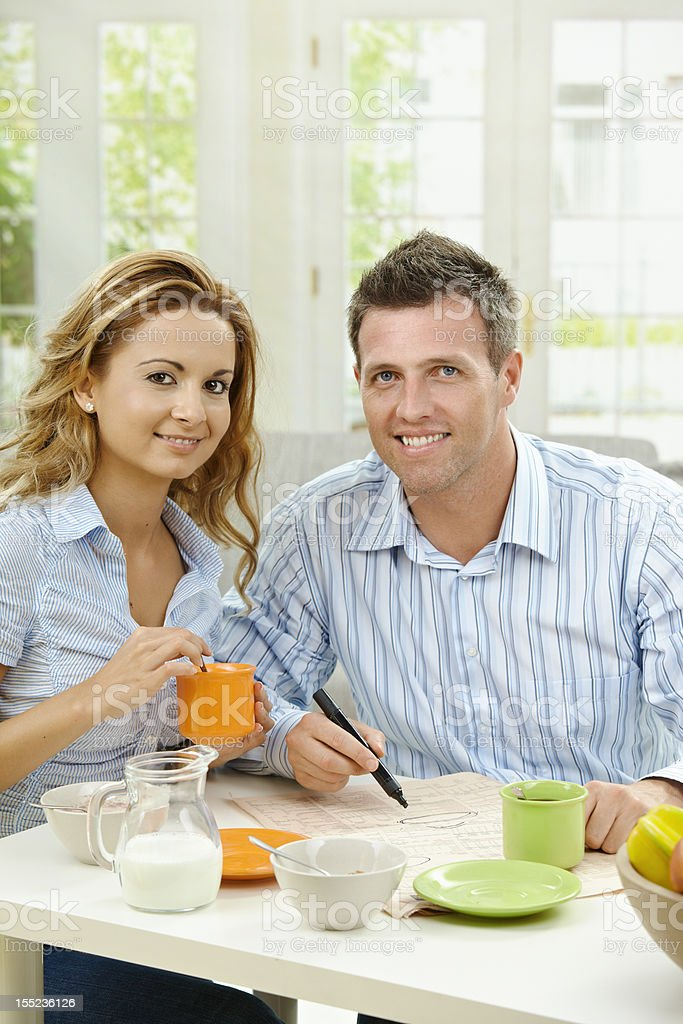 Couple drinking coffee royalty-free stock photo