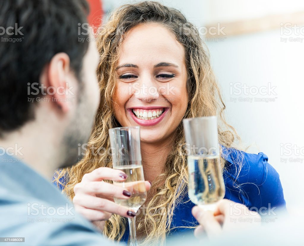 Couple drinking royalty-free stock photo