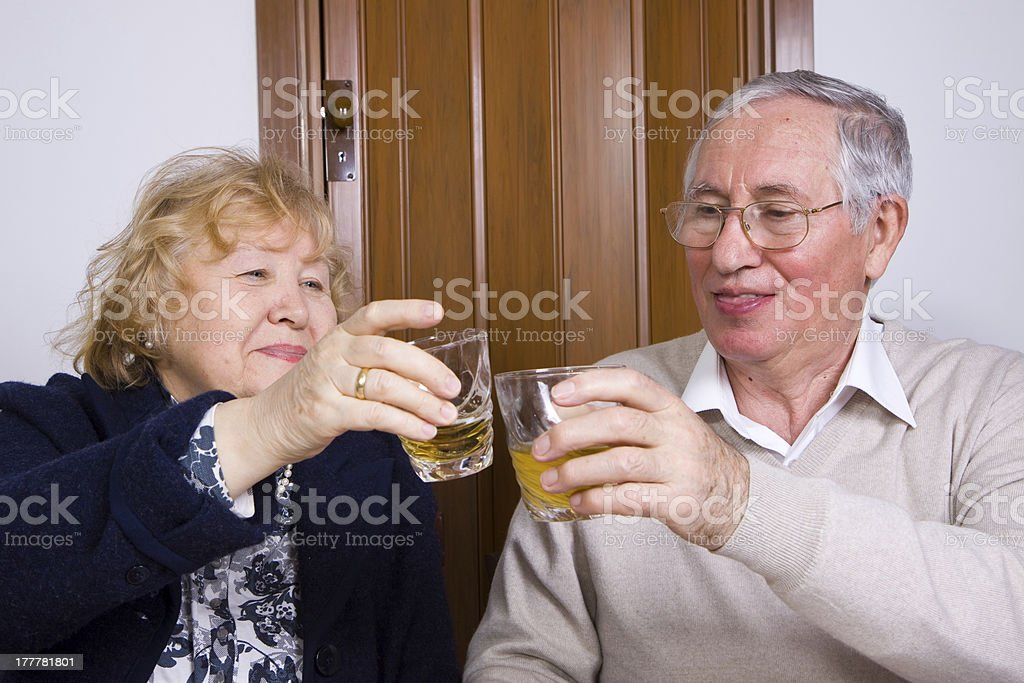 couple drinking together royalty-free stock photo