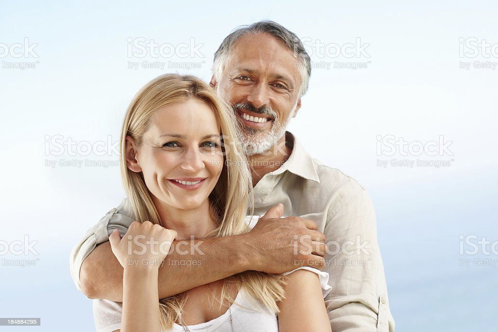 Couple embracing each other royalty-free stock photo