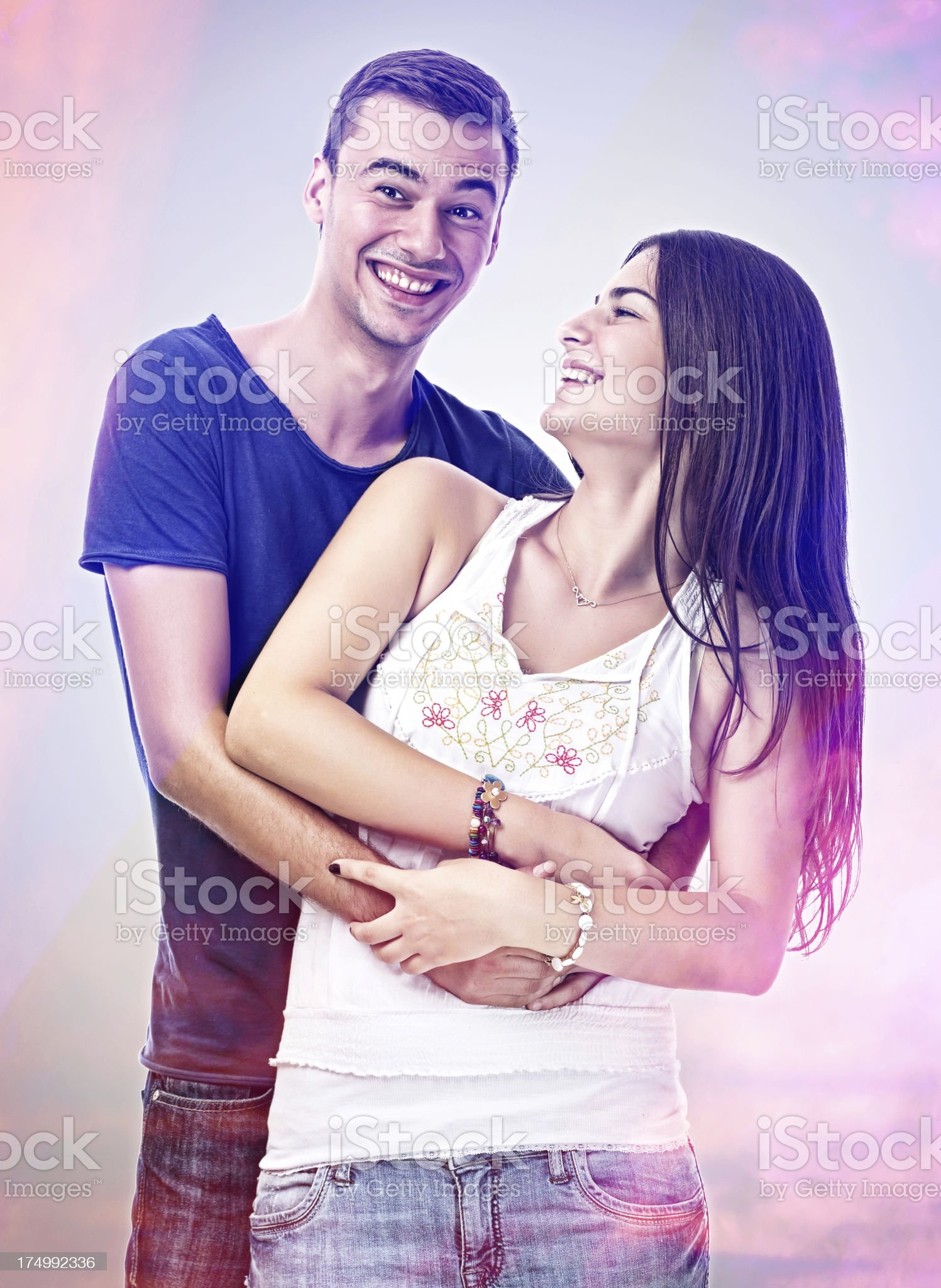 Couple Embracing royalty-free stock photo