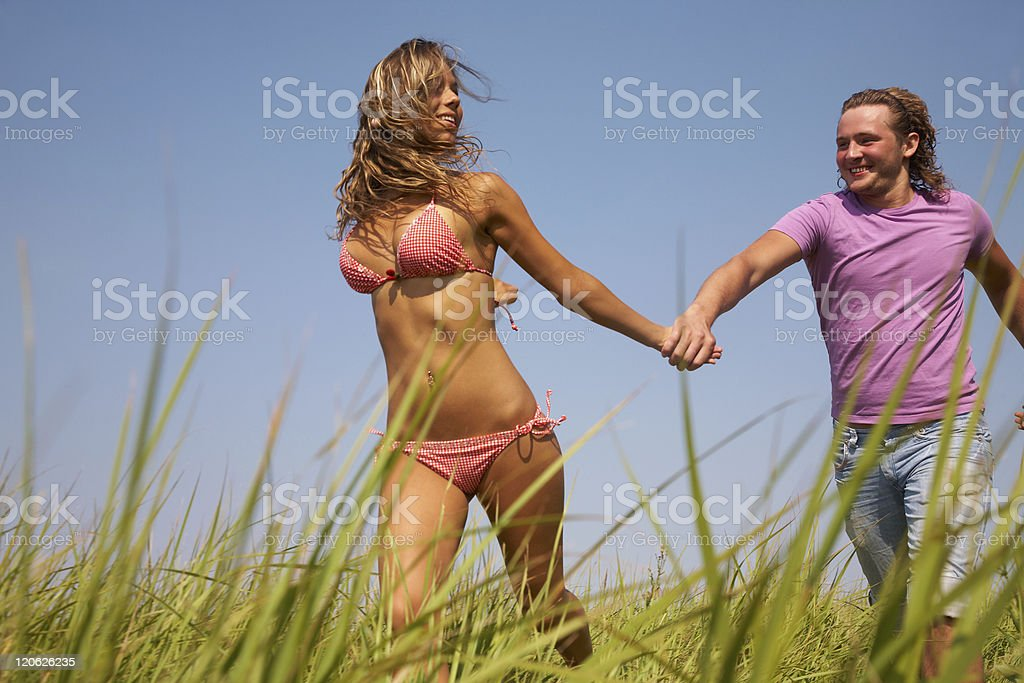 Couple enjoy royalty-free stock photo