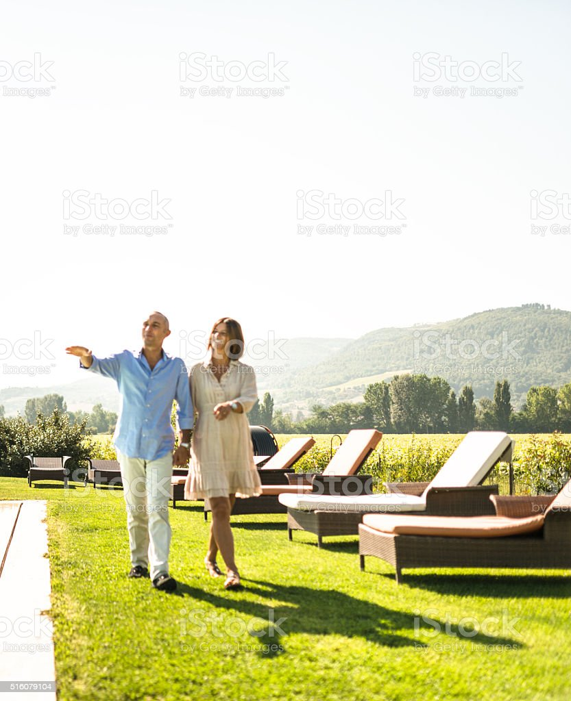 couple enjoy the summer together stock photo