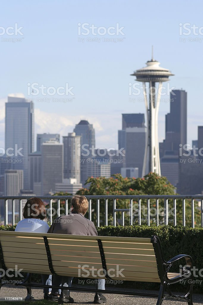 Couple enjoy the view royalty-free stock photo