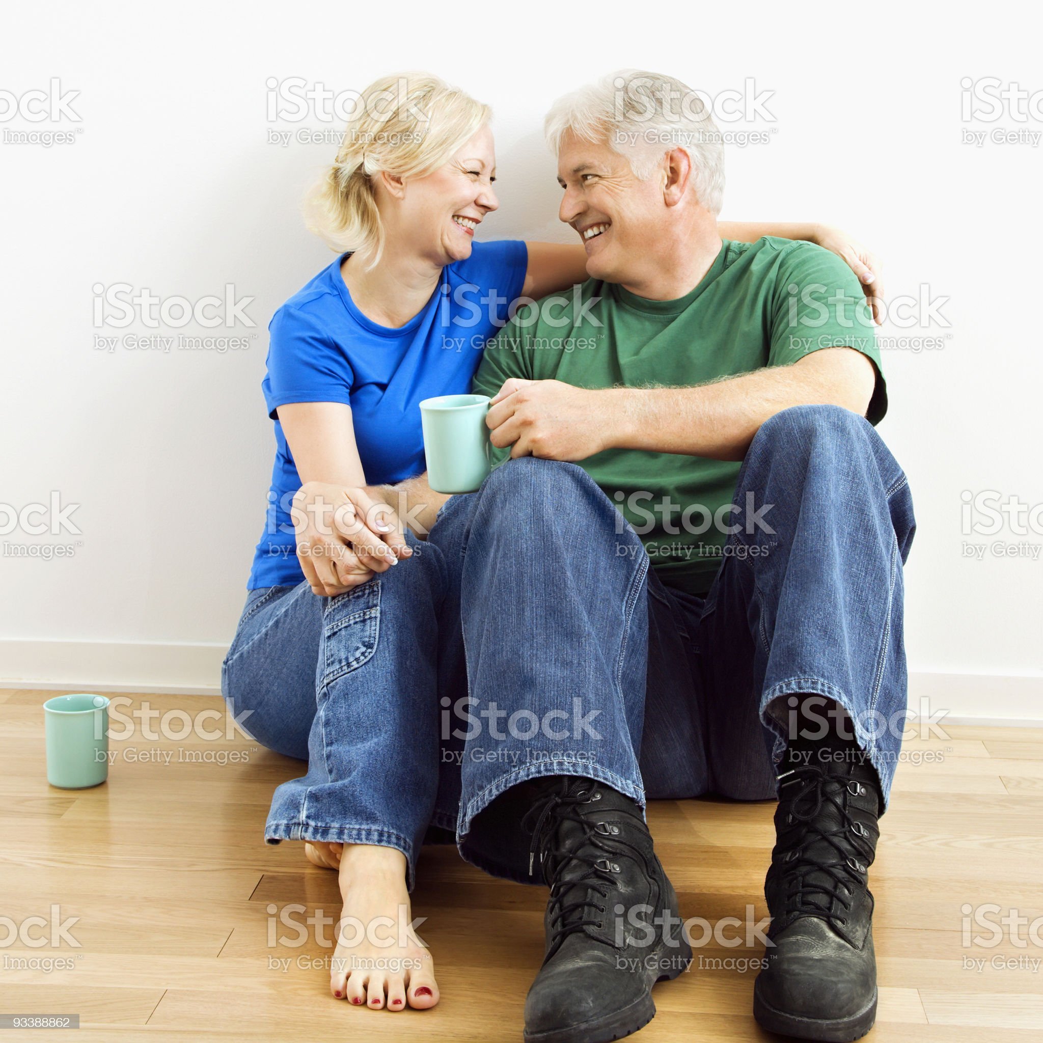 Couple enjoying coffee. royalty-free stock photo