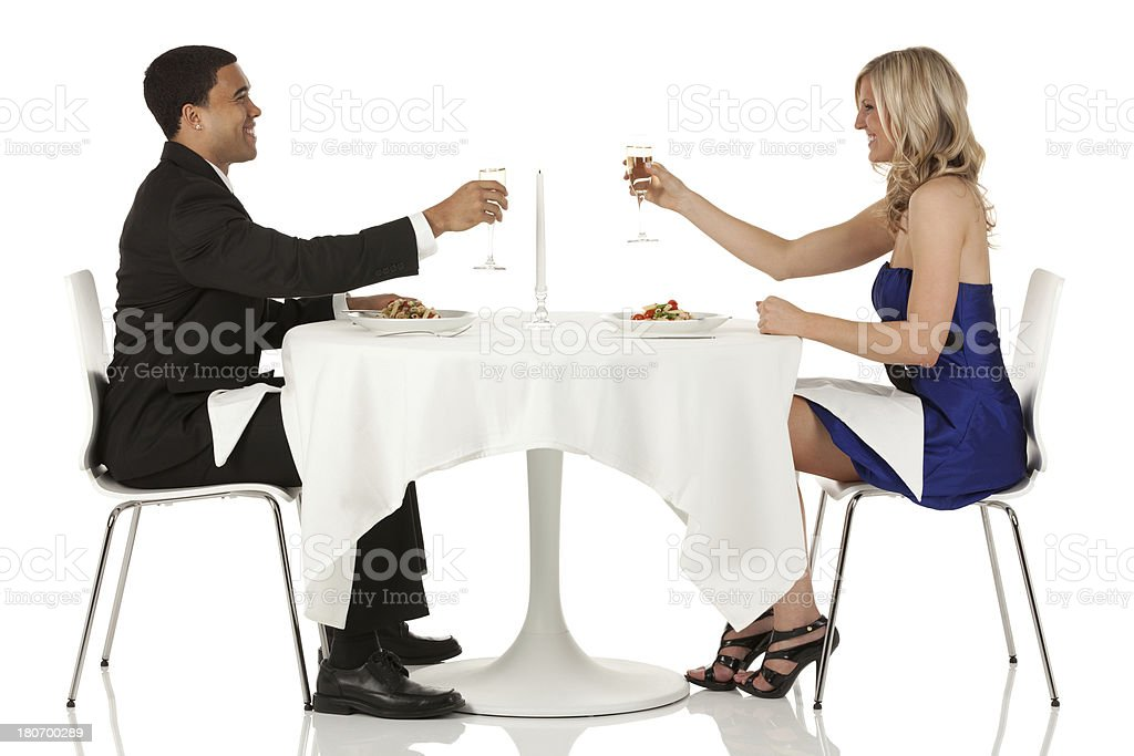 Couple enjoying dinner royalty-free stock photo