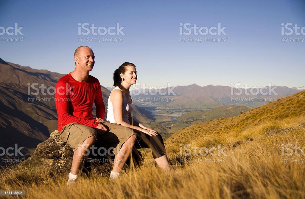 Couple enjoying nature royalty-free stock photo
