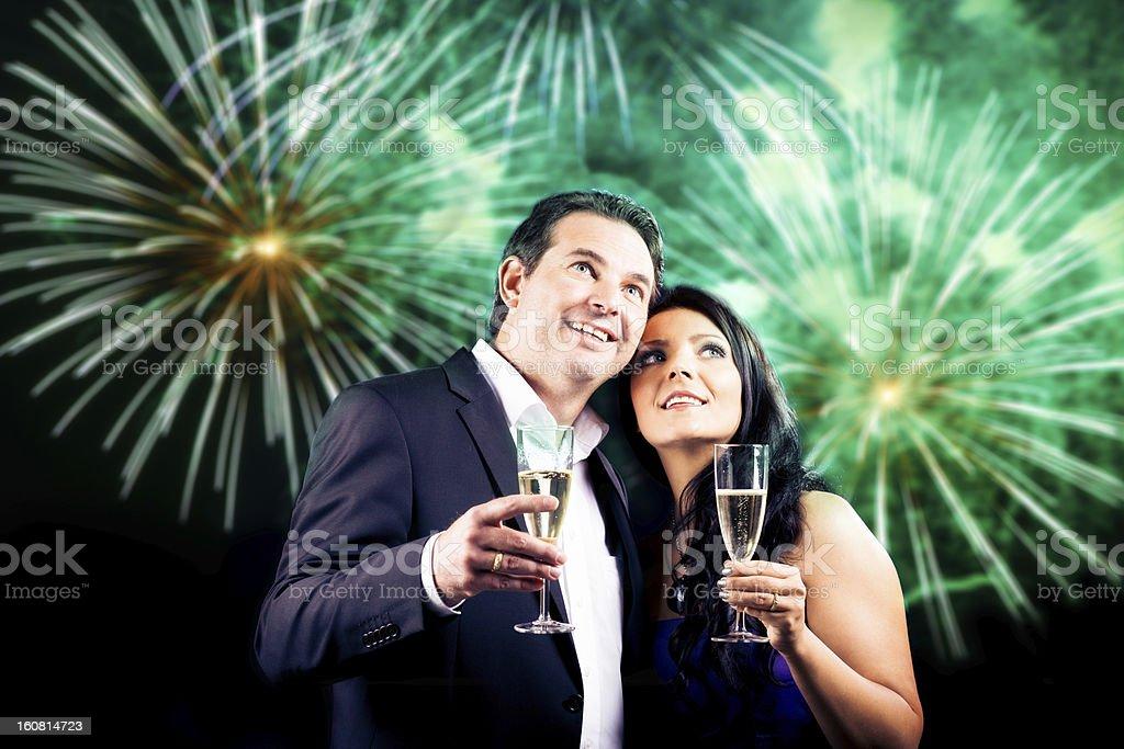 couple enjoying new year's eve royalty-free stock photo