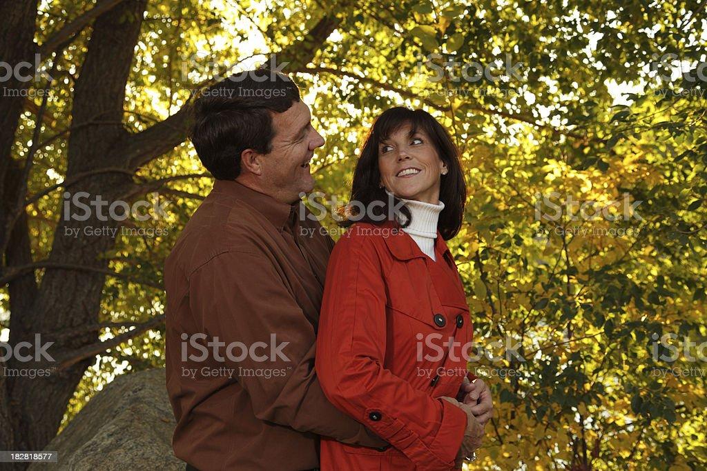 Couple Enjoying The Outdoors royalty-free stock photo