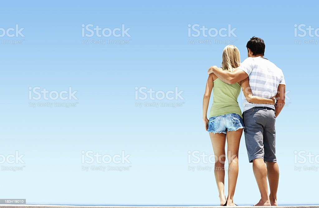Couple enjoying the view royalty-free stock photo