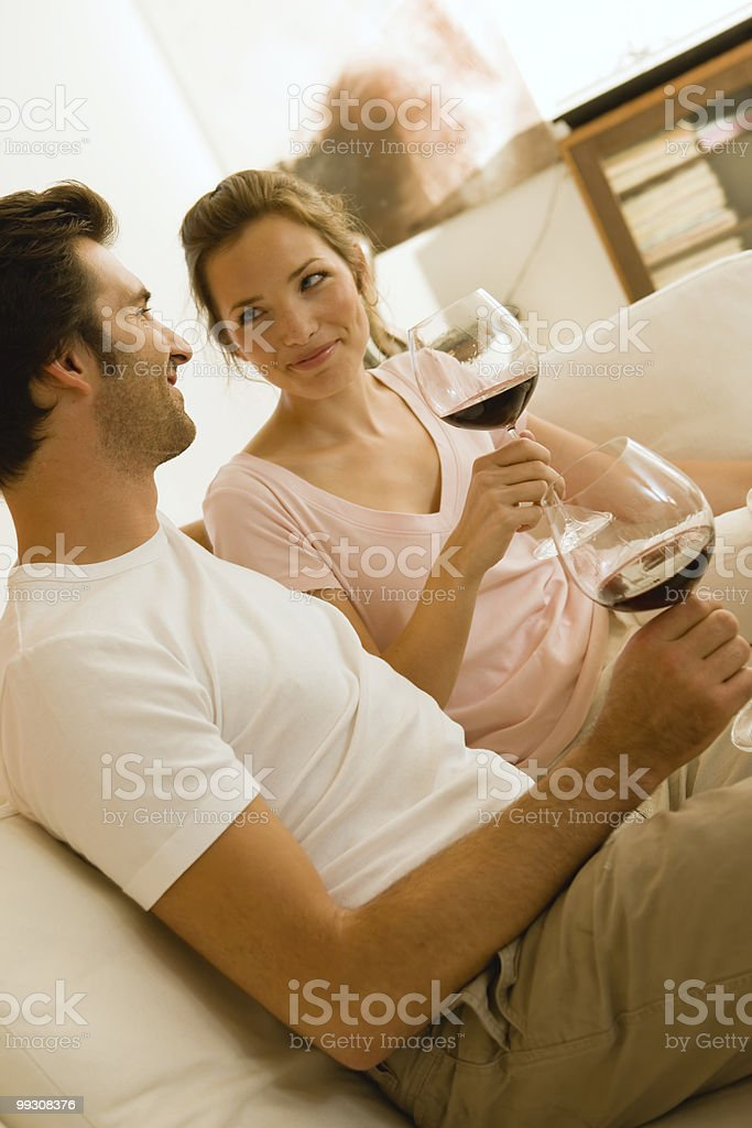 Couple enjoying their evening royalty-free stock photo