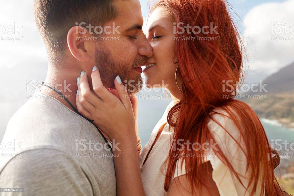Couple enjoying their love stock photo