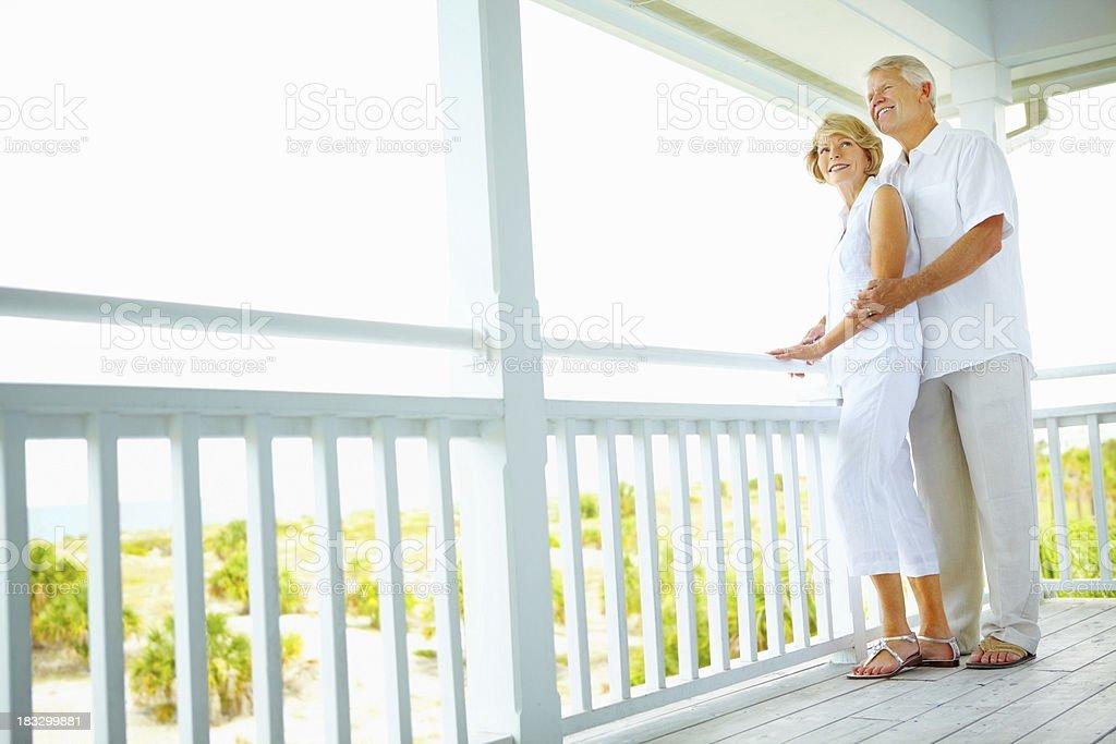 Couple enjoying their retirement royalty-free stock photo