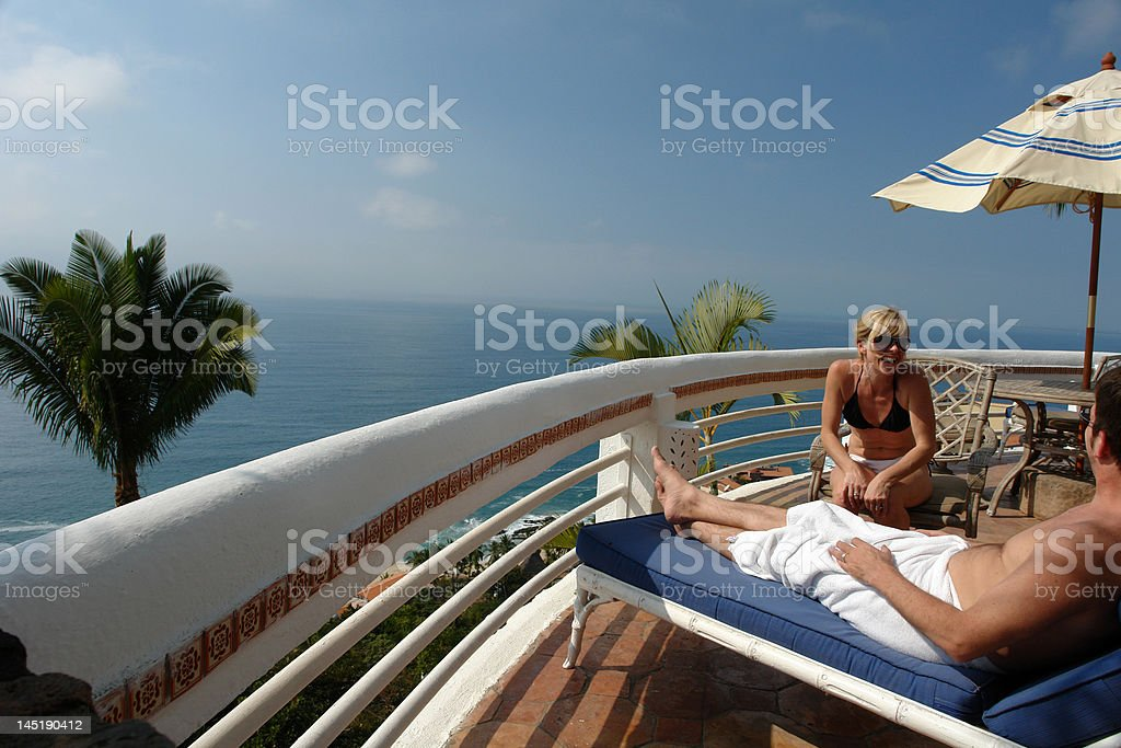 couple enjoying vacation royalty-free stock photo
