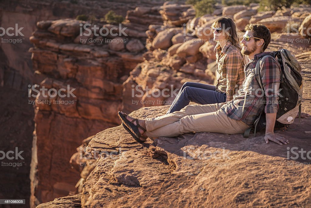 Couple Enjoying View royalty-free stock photo