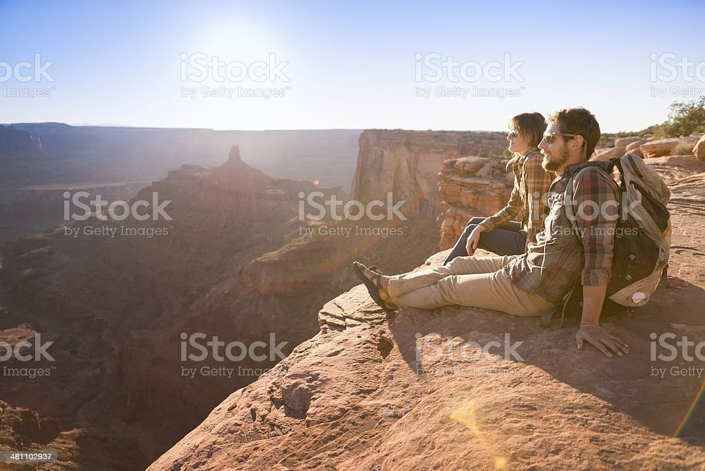 Couple Enjoying View stock photo