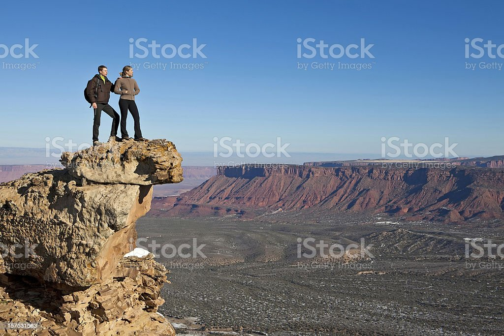 Couple exploring royalty-free stock photo