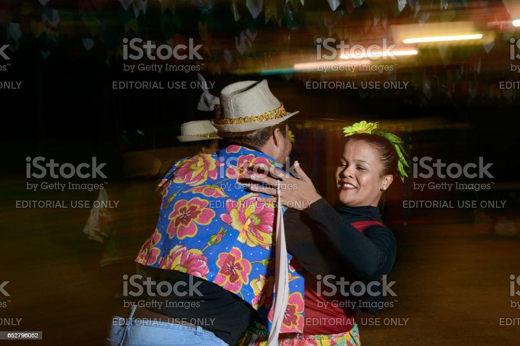 Couple, Festa Junina Tradition in Brazil (Festa de São João) stock photo
