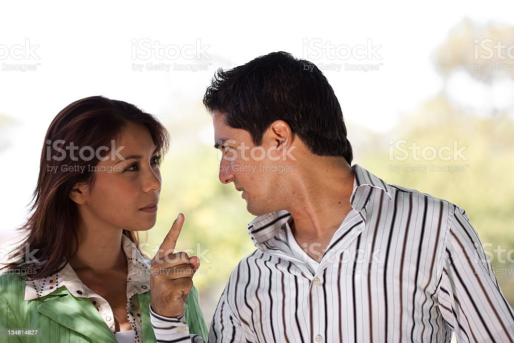 Couple fight royalty-free stock photo