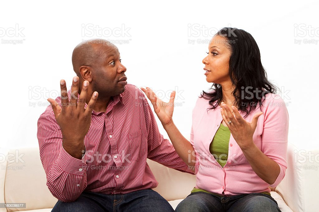 Couple Fighting royalty-free stock photo