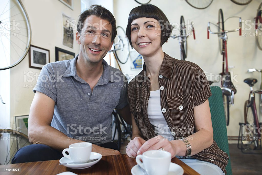 Couple finds a shopping Deal stock photo