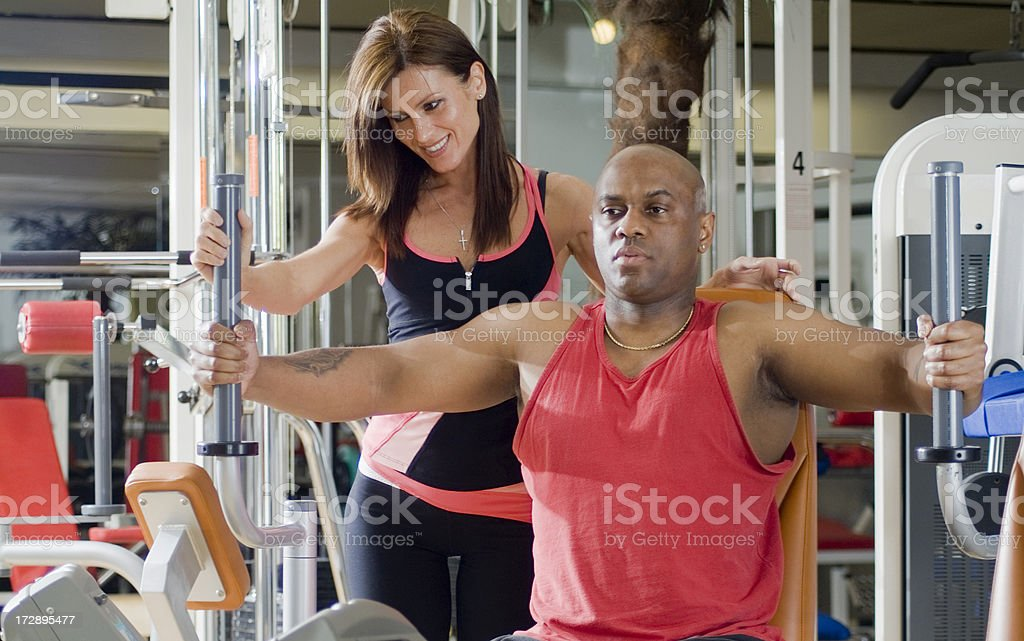 Couple Fitness Series royalty-free stock photo