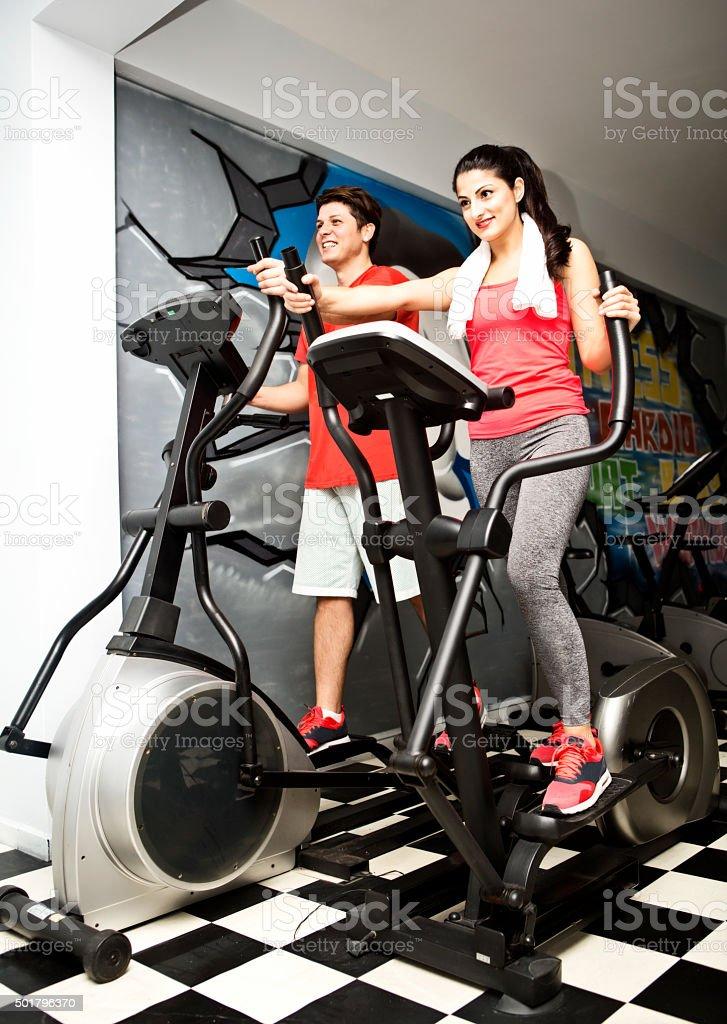 Couple Fitness Training stock photo