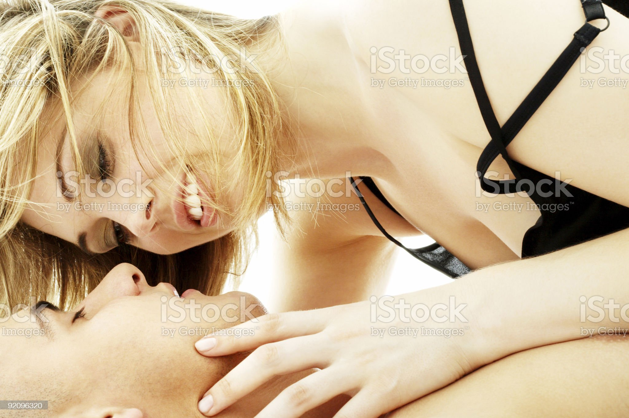 couple foreplay royalty-free stock photo