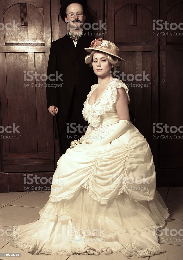 Couple from the past royalty-free stock photo