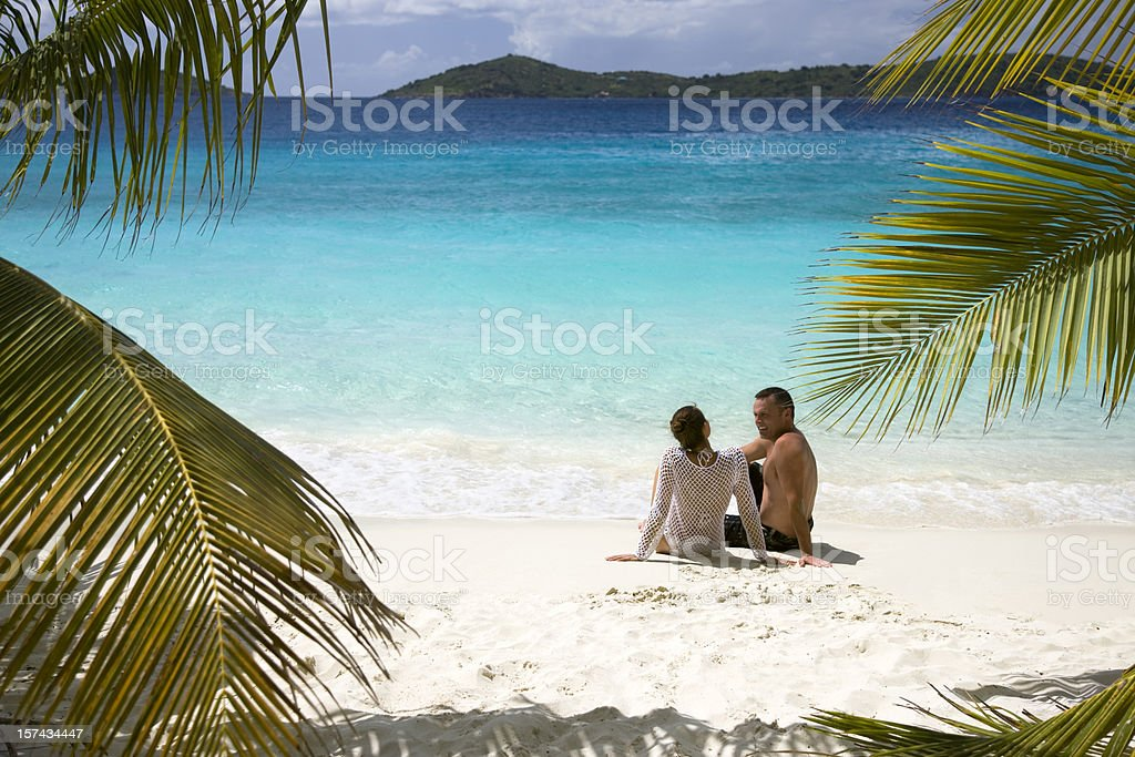 couple getaway in the Caribbean royalty-free stock photo