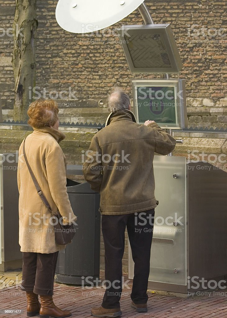 Couple getting information royalty-free stock photo